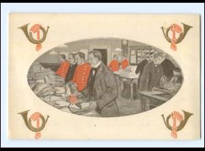 Y10011/ Dansk Postmuseum Post Briefe sortieren AK 1928 Dänemark