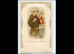 Y9984/ St. Antonius von Padua Litho AK 1909