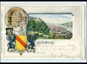 Y9980/ Heidelberg Wappen AK 1901