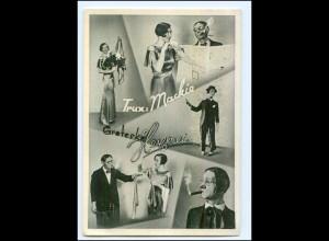 Y9969/ Trux & Mackie Zauberer Variete AK 1936