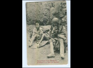 U3658/ Aussätzige i.d. Nähe von Taschkent Usbekistan AK ca.1912