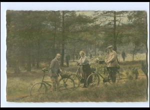 U3666/ Fahrrad Radfahrer Foto AK ca.1930