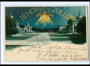 U3575-144./ Potsdam Neues Palais Hohenzollern Litho AK 1902