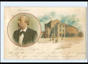 Y10061/ Hans von Bülow Musiker Dirigent Kapellmeister Litho AK 1900