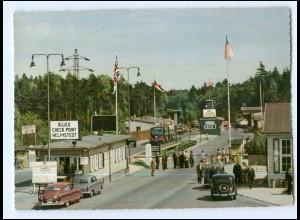 Y10095/ Checkpoint Helmstedt Zonengrenze DDR Grenze Zoll ca.1955