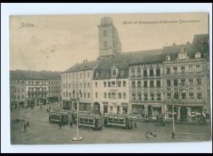 XX002055-027./ Zittau Markt Straßenbahn 1905 AK