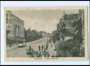XX001778/ Flensburg Apenraderstraße Straßenbahn 1920 AK