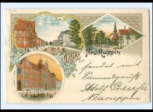 XX001819-168./ Gruß aus Neu-Ruppin 1897 Litho AK