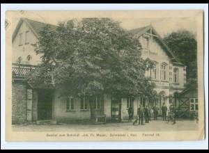XX001799-2723/ Scheessel Gasthof zum Bahnhof 1914 AK