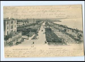 XX001812-18./ Warnemünde Bismarck-Promenade 1903 AK