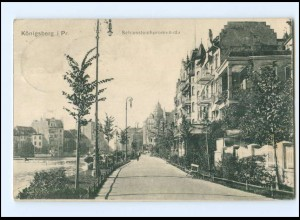 XX002082/ Königsberg Schloßteichpromenade 1907 AK