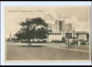 XX001832-18./ Warnemünde Strandpromenade Kurhaus 1932 AK