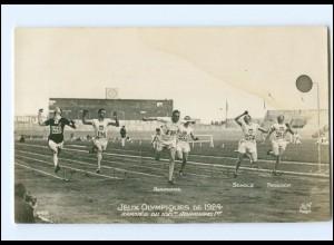 XX14769/ Olympiade 1924 Paris 100 M Lauf Sieger Abrahams Foto AK