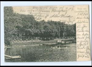 U3732/ Königsberg Schloßteich Ak 1904 Ostpreußen