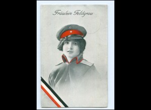 U3745/ Fräulein Feldgrau 1. eltkrieg AK 1916