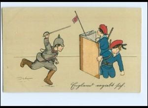 U3808/ Kinder in Uniform England ergibt sich. 1. Weltkrieg LItho AK