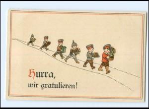 U3806/ Kinder in Uniform 1. Weltkrieg ca.1915 Hurra, wir gratulieren!