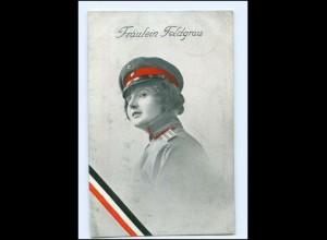 U3871/ Fräulein Feldgrau Frau in Uniform 1. Weltkrieg AK 1916