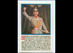 U3855/ Kaiser Wilhelm in Uniform Künstler AK ca.1914 M.Munk Nr.968