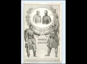 U3914/ Kaiser Franz Josef + Wilhelm Viribus Unitis 1. Weltkrieg AK 1915