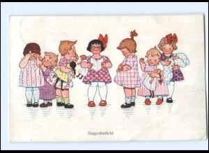 Y10661/ Siegesbericht Mädchen mit Puppen 1. Weltkrieg Ak 1916