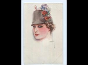 U3850/ Usabal Künstler AK junge Frau als Soldat ca.1914