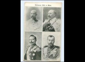 Y10663/ Zar von Rußland, Kaiser Franz Josef, kaiser Wilhelm AK 1903 Wien