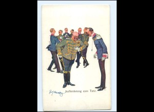 U4237/ Schönpflug AK Aufforderung zum Tanz, Militär Ak ca.1914