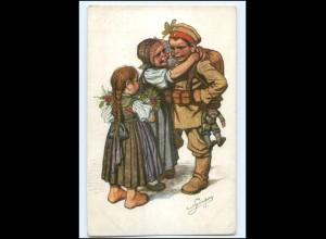 Y10226/ Schwarzwald-Trachten Kind in Uniform 1. Weltkrieg Ak 1915