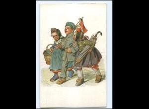 Y10227/ Hessische-Trachten Kind in Uniform 1. Weltkrieg Ak 1915