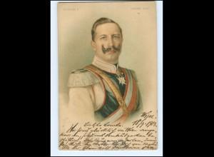 Y10675/ kaiser Wilhelm in Unform Litho AK 1901