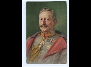 U3986/ Kaiser Wilhelm mit Ehrenzeichen AK 1916