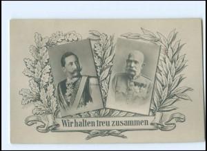 U3967/ Kaiser Franz Josef + Kaiser Wilhelm 1. Weltkrieg Foto AK ca.1914