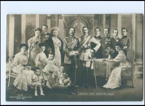 U3829/ Kaiser Wilhelm und Familie Kaiserhaus Foto Fotomontage AK 1908