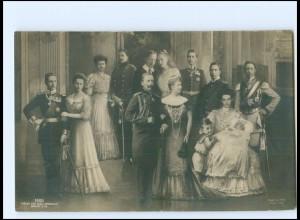 U3828/ Kaiser Wilhelm und Familie Foto Fotomontage AK 1908