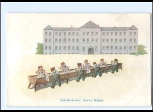 U3990/ Kinder in Uniform Soldatenleben: Große Wäsche AK WK1
