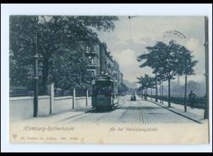 XX001896/ Hamburg Rotherbaum Straßenbahn An der Verbindungsbahn AK 1909