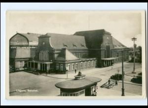 XX001952/ Liegnitz Bahnhof Foto AK 1932 Schlesien