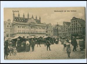 XX001917/ Rostock Wochenmarkt AK 1912