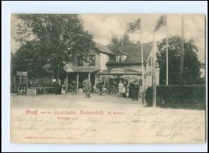 XX002649/ Hamburg Bahrenfeld Gruß aus der Sporthalle AK 1900