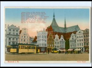 XX002339-18./ Rostock Neuer Markt Straßenbahn 1934 AK