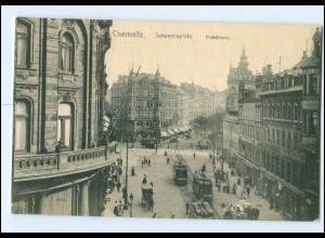 XX002249-091./ Chemnitz Johannisplatz Poststraße AK
