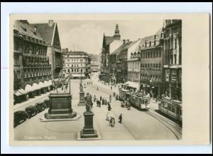 XX002246-091./ Chemnitz Markt Straßenbahn 1934 Foto AK