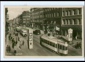 XX002402-01./ Dresden Pragerstraße Straßenbahn 1932 Foto AK