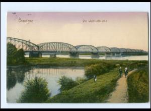 XX002319/ Westpr. Graudenz Weichselbrücke 1915 AK
