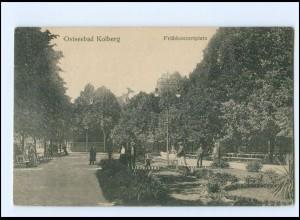 XX002316/ Pommern Kolberg Frühkonzertplatz 1918 AK