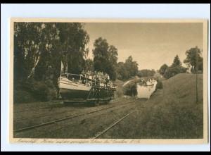XX009800/ Geneigte Ebene bei Canthen Ostpreußen Motorschiff Hertha AK ca.1930