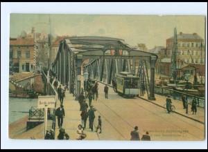 XX002229/ Bremerhaven Geestebrücke Pferdebahn AK 1906