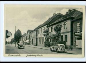 XX002226-2740/ Bremervörde Hindenburg Straße Autos AK 1938