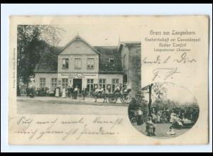 XX002310/ Hamburg Gruß aus Langenhorn Pferdekutsche 1904 AK